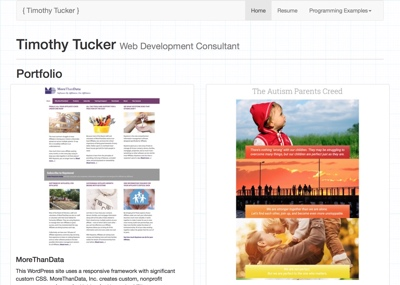 Timothy Tucker - Web Development Consultant Website