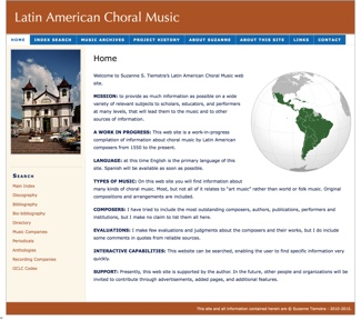 Latin American Choral Music Website